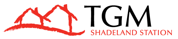 This image shows the logo of TGM Shadeland Station in Indianapolis, IN.