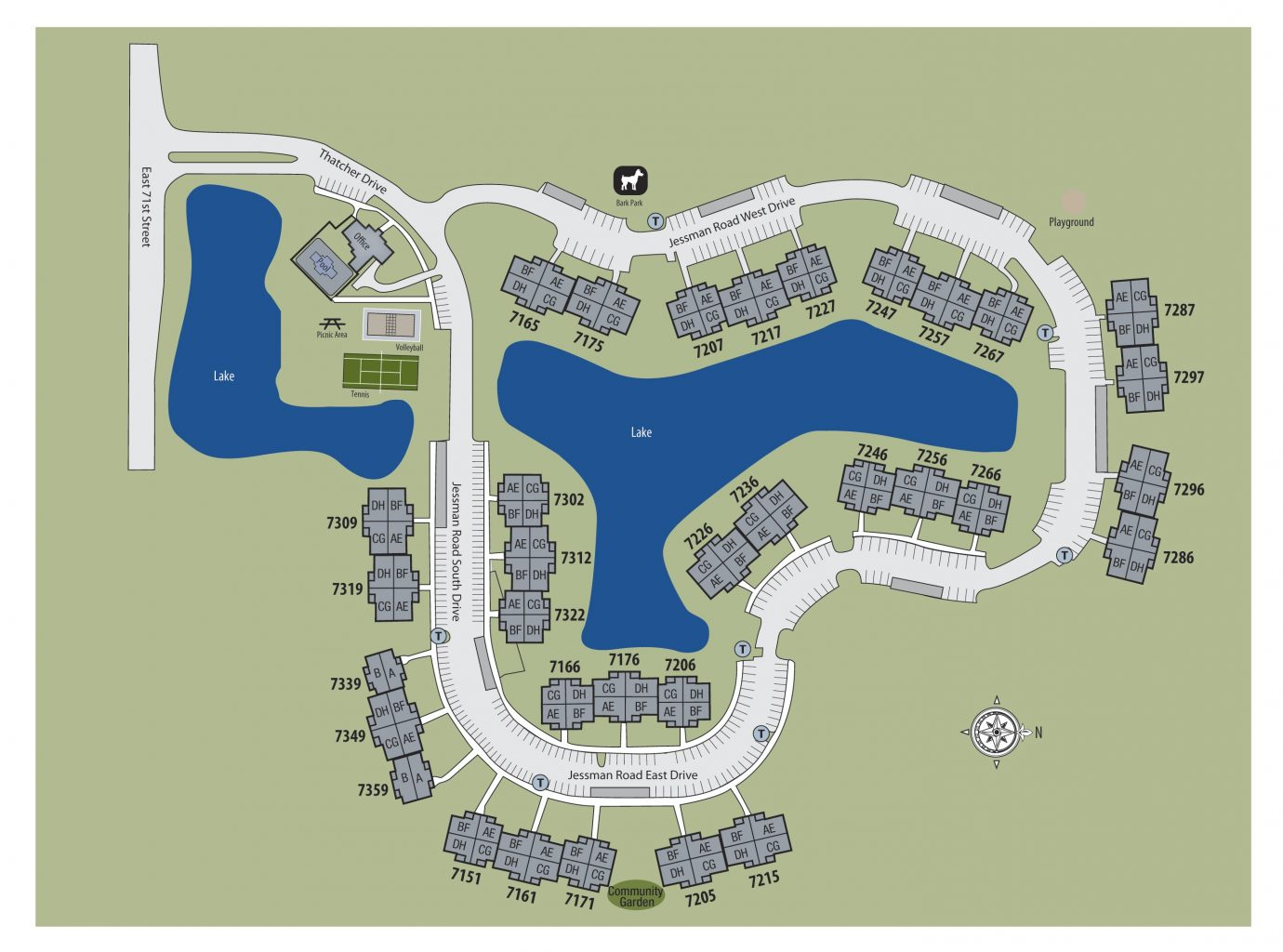TGM Shadeland Station Apartments Map